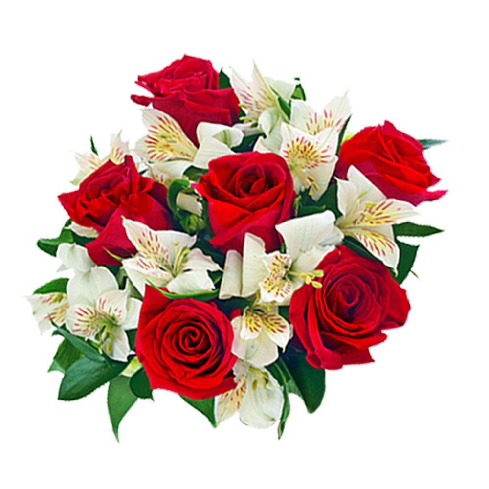 2634 Buquê com rosas e astromelias