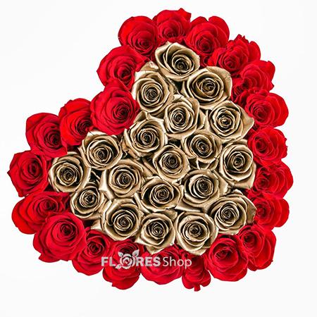 1636 Luxuoso Coração de Rosas