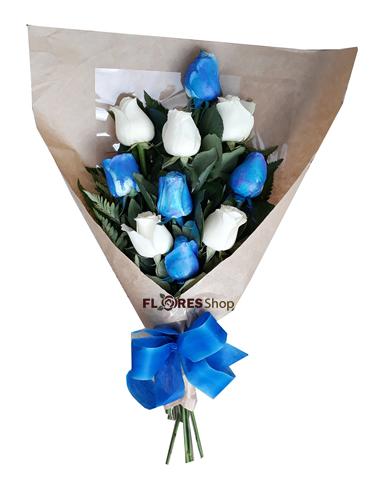 1971 Ramalhete Rosas Azuis e Brancas