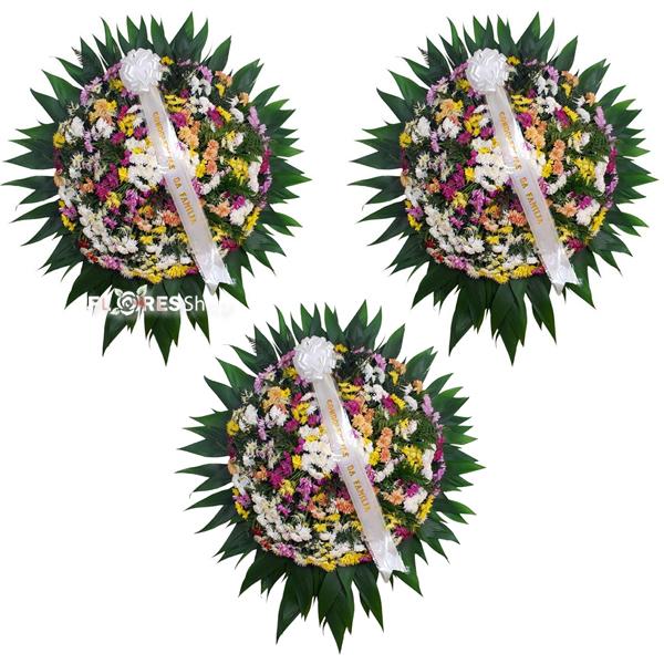 2101 Combo Coroa de Flores Pequena