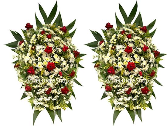 2103 Combo Coroa de flores Jardim da Saudade