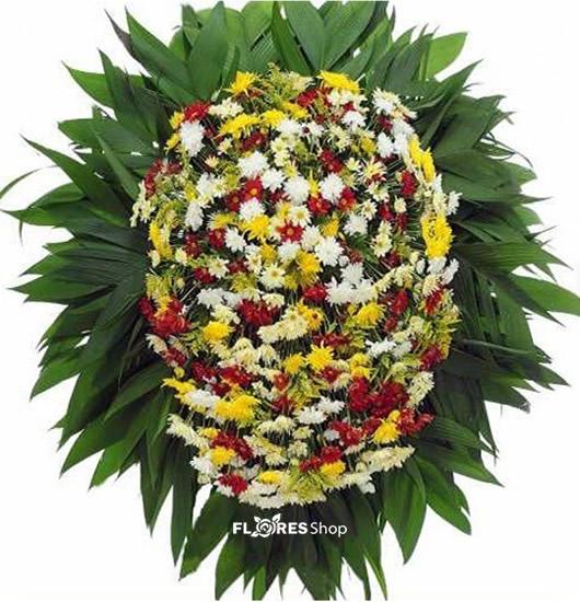2104 Coroa  de Flor Saudade