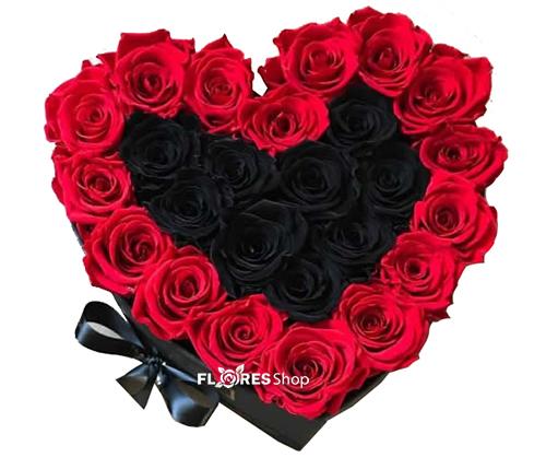 2144 Coração Preto e Vermelho