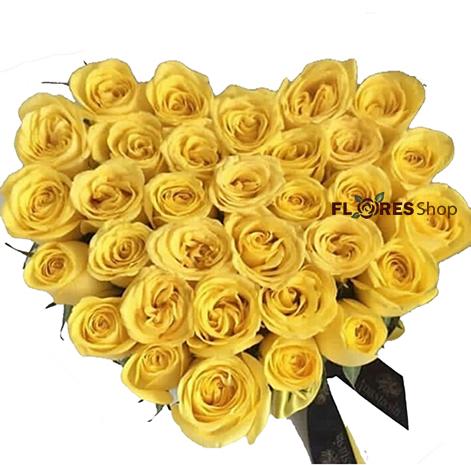 2245 Coração de Rosas Amarelas