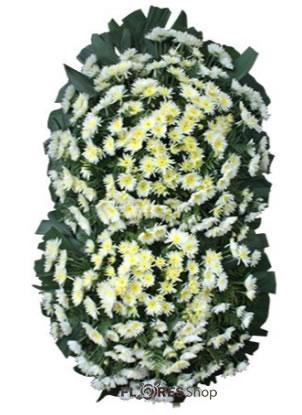 2552 Coroa Fúnebre com 2 buquês