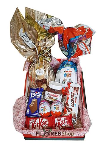 3107 Cesta com Ferrero e Kinder