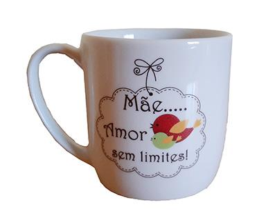 3167 Caneca  - Mãe Amor sem LIMITES
