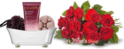 3502 Rosas e Kit Banho Nativa Spa
