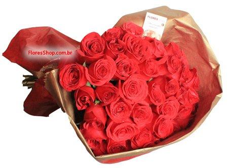 427 Buquê 30 Rosas Colombianas