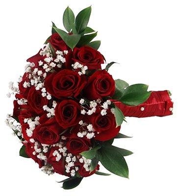 504 Buquê de Noiva Rosas Vermelhas