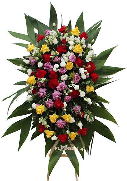 567 Coroa Mar de Rosas Coloridas
