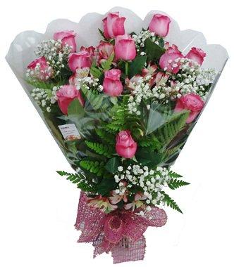 815 Buquê 12 Rosas Lilás