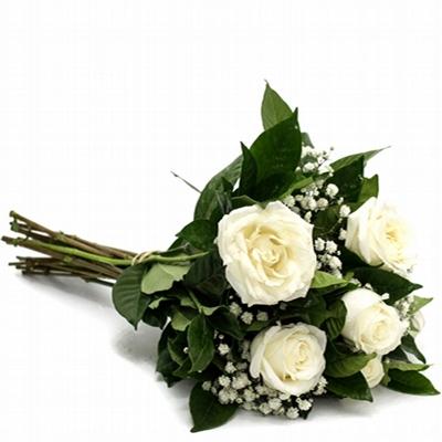 19 Buquê com Rosas Branca