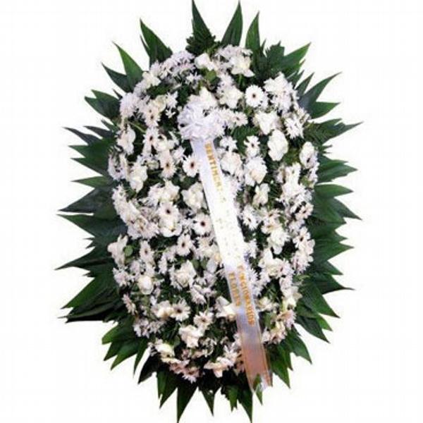2200 Coroa de Flores Branca