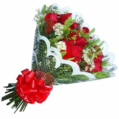 25 Buquê de Rosas Vermelhas