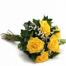 27 Buquê com 6 Rosas Amarelas
