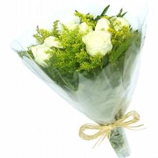 28 Buquê com 6 Rosas Branca