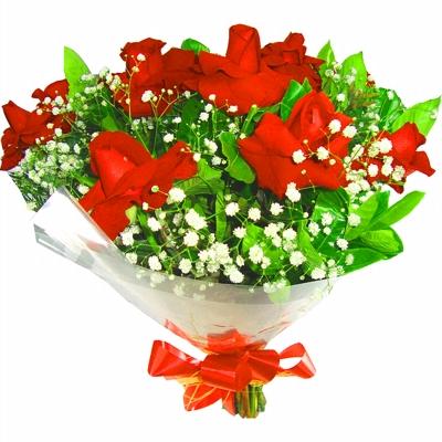 33 Buquê com 9 Rosas Vermelha