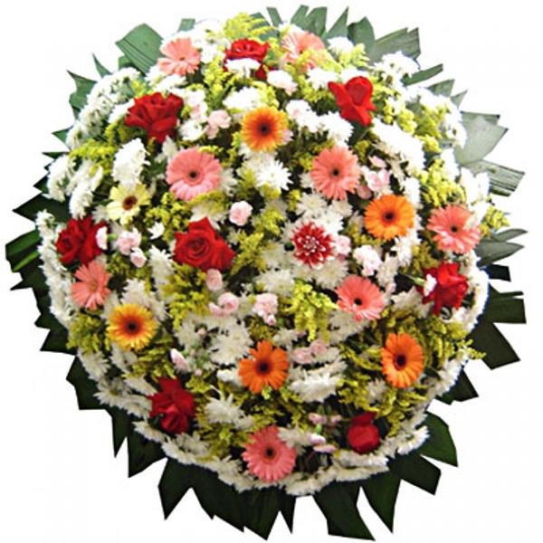372 Coroa de Flores Mista e Gerberas
