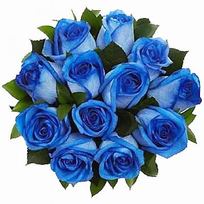 41 Buquê de Rosas Azul