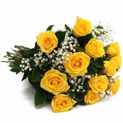 49 Buquê com 12 Rosas Amarelas