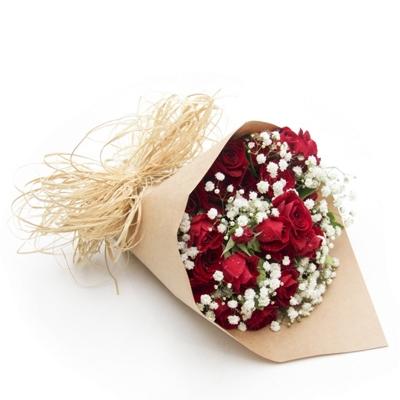 61 Buquê com 15 Rosas Vermelhas Especial
