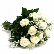 484 Buquê de Rosa Branca - 12 Unidades