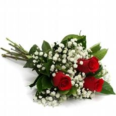 523 Buquê de 3 Rosas Vermelhas
