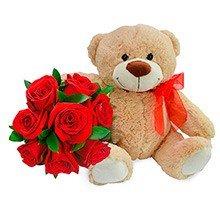 685 Carinhoso Urso com Rosas