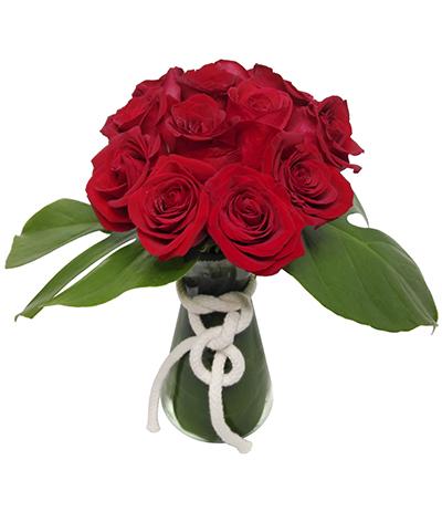 1084 Arranjo de 12 Rosas Vermelhas Importadas