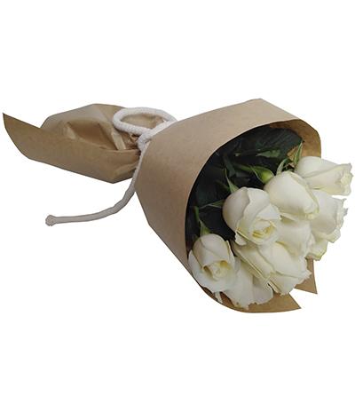 1958 Buquê de 12 Rosas Brancas.