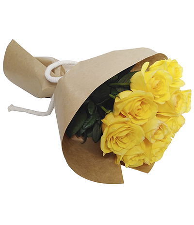 2023 Buquê de 12 Rosas Amarelas.