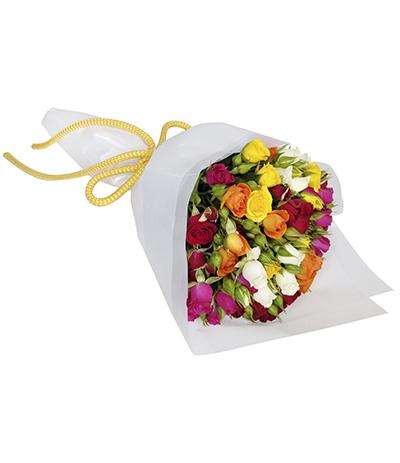 2603 Buquê de Mini Rosas Coloridas