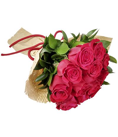 2620 Buquê de 12 Rosas Vermelhas Importadas em Kraft